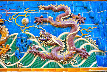 China Beijing Beihai imperial park Dragon
