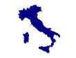 carte italie vierge bleue