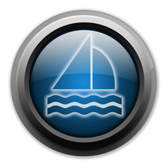 "Dark and Glowing Button ""Sailing"""