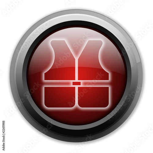 "Dark and Glowing Button ""Life Vest"""