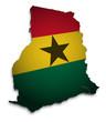 Ghana 3D Flagge