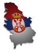 Serbien 3D Flagge
