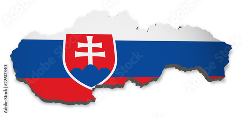 Slowakei 3D Flagge