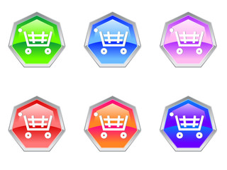 Shopping Trolley Cash Logo Design Icon