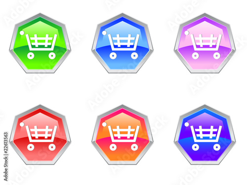 Shopping Trolley Cash Logo Design Icon