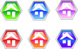 Hexagon House Logo Design Icon