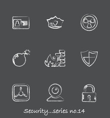 Security chalkboard icons...series no.14