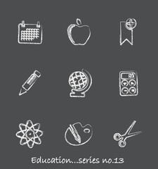 Education chalkboard icons...series no.13