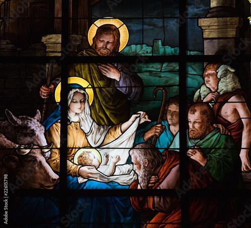 Nativity Scene - Christmas - Stockholm church window