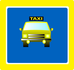 taxi sign vector illustratio