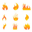 Flames icon set