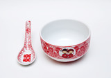 Chinese wedding bowl and spoon