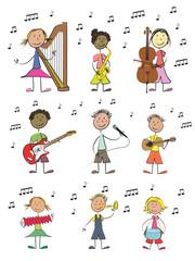 9 enfants musique