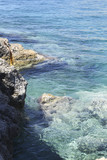 Rocky coast in Greece