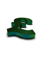 pound symbol 3D multicolor metal 3D render