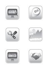 web concepts icon set