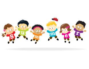 Graduation Kids - multi-ethnic