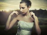Fototapete Blondhaarig - Belle - Frau