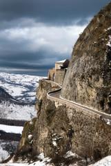 dangerous street on the mountain