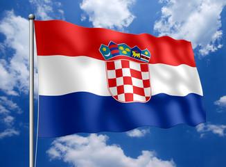 Kroatien-Fahne