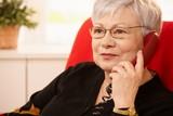 Portrait of senior lady on phone