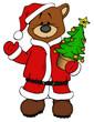 Bär, Weihnachtsmann, Weihnachtsbaum, Weihnachten