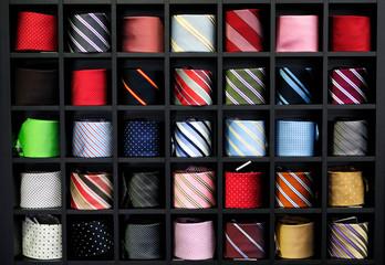 Corbatas en muestrario