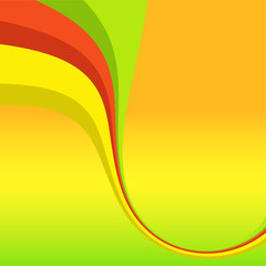 Abstract bright background with color line