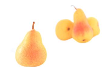 wet ripe pear