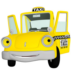 Taxi Cab Doors Open