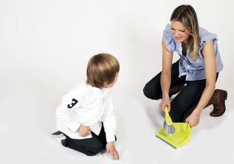 Mutter macht sauber