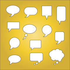 Thought and speech bubbles set 2