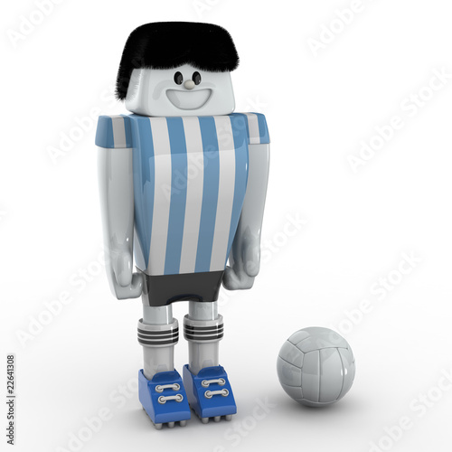 3D Football Player - Team Argentina
