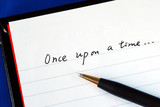 Begin writing the story with the phrase 'Once upon a time' poster