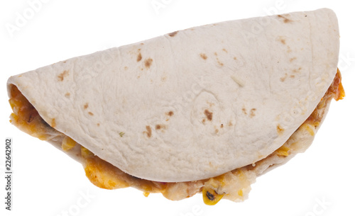 Papiers peints Pique-nique Quesadilla Isolated on White