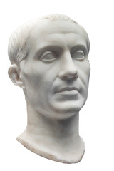 Ancient marble bust of Julius Caesar