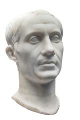 Ancient marble bust of Julius Caesar