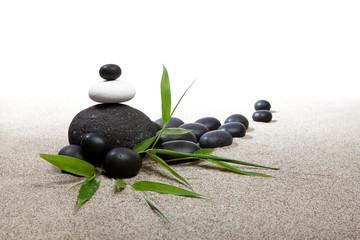 Ambiance zen - pierres et bambous