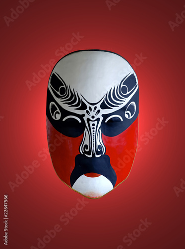mask of opera with red isolated background