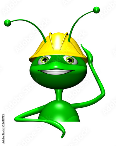 Formica Operaio-Worker Ant Cartoon 3d