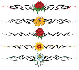 Flower tribal tattoo