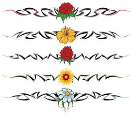 Flower tribal tattoo