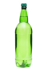 Bottle with beer isolated on white background