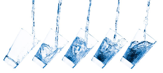 Glass and water