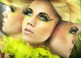 Fototapety Multiple portrait of a pretty blonde