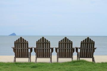 Cozy chairs on the beach, Chanthaburi Thailand