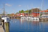 Fischereihafen mit alter Werft in Eckernförde (Schleswig-H.)