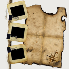 Slides for photo with blank of pirates map