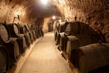 Corridor in winery