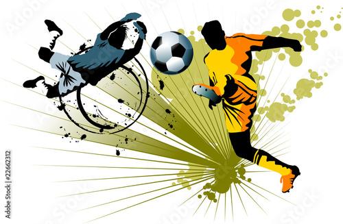 goalkeeper and striker - 22662312